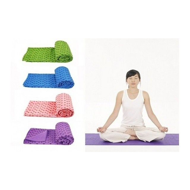 Khăn tập yoga đỏ hồng_ Queensport
