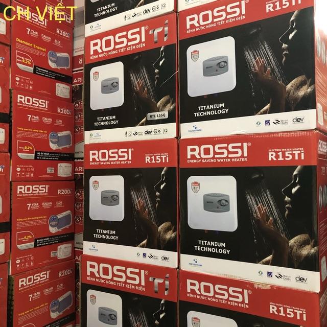 Bình nóng lạnh Rossi Ti 15 (15L), Ti 20 (20L), Ti 30 (30L)