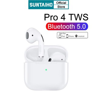 Tai Nghe Bluetooth Không Dây Mini Suntaiho Pro 4 TWS Âm Thanh Hifi I9000 Cho Tập Thể Thao / Chơi Game