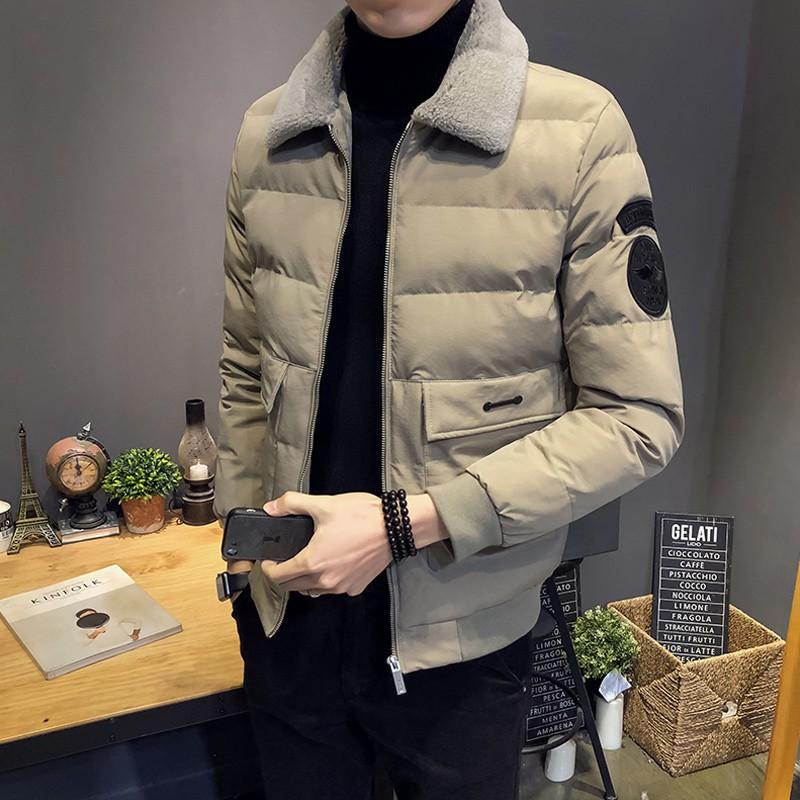 Áo Khoác Lông Cừu Thời Trang Mùa Đông Cho Nam