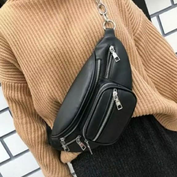 Túi đeo chéo da Style Lắc xích chất Da Pu Cao Cấp