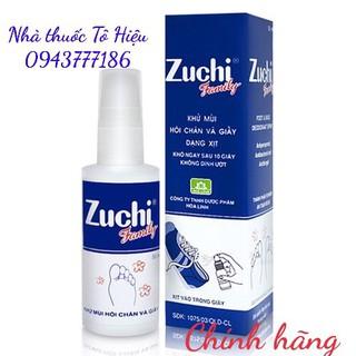 Zuchi Family (Chính hãng)- Xịt khử mùi hôi chân và giày. Lọ 50 ml thumbnail