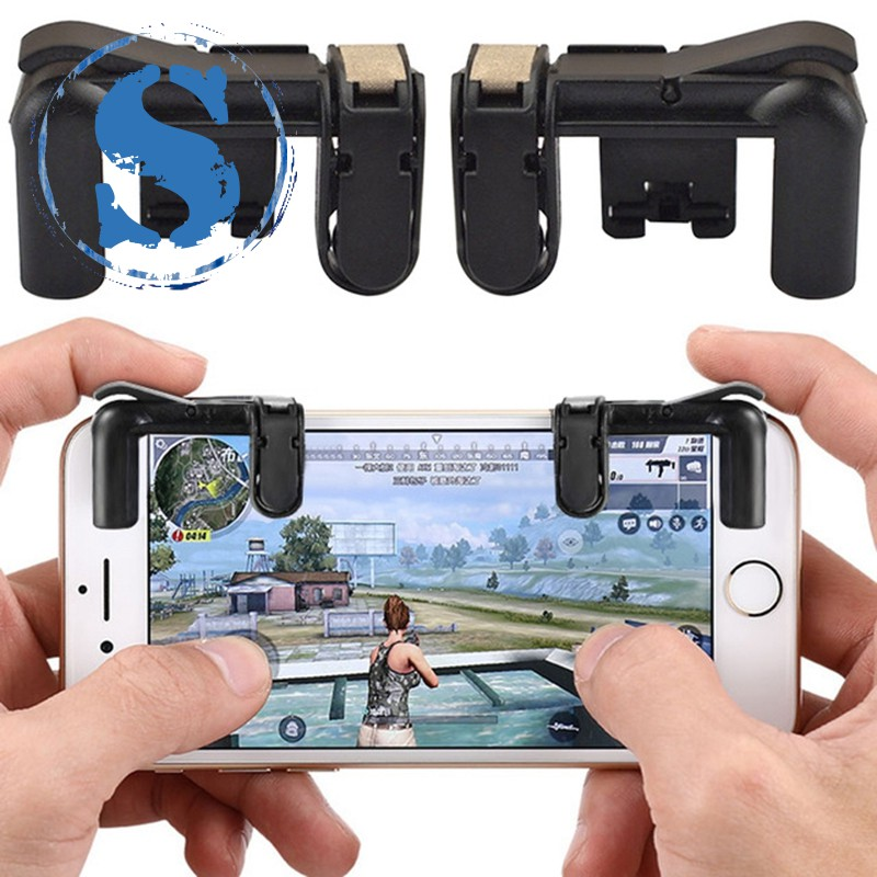 1Pair V3.0 Button Aim Key Smart Phone Gaming Trigger Controller