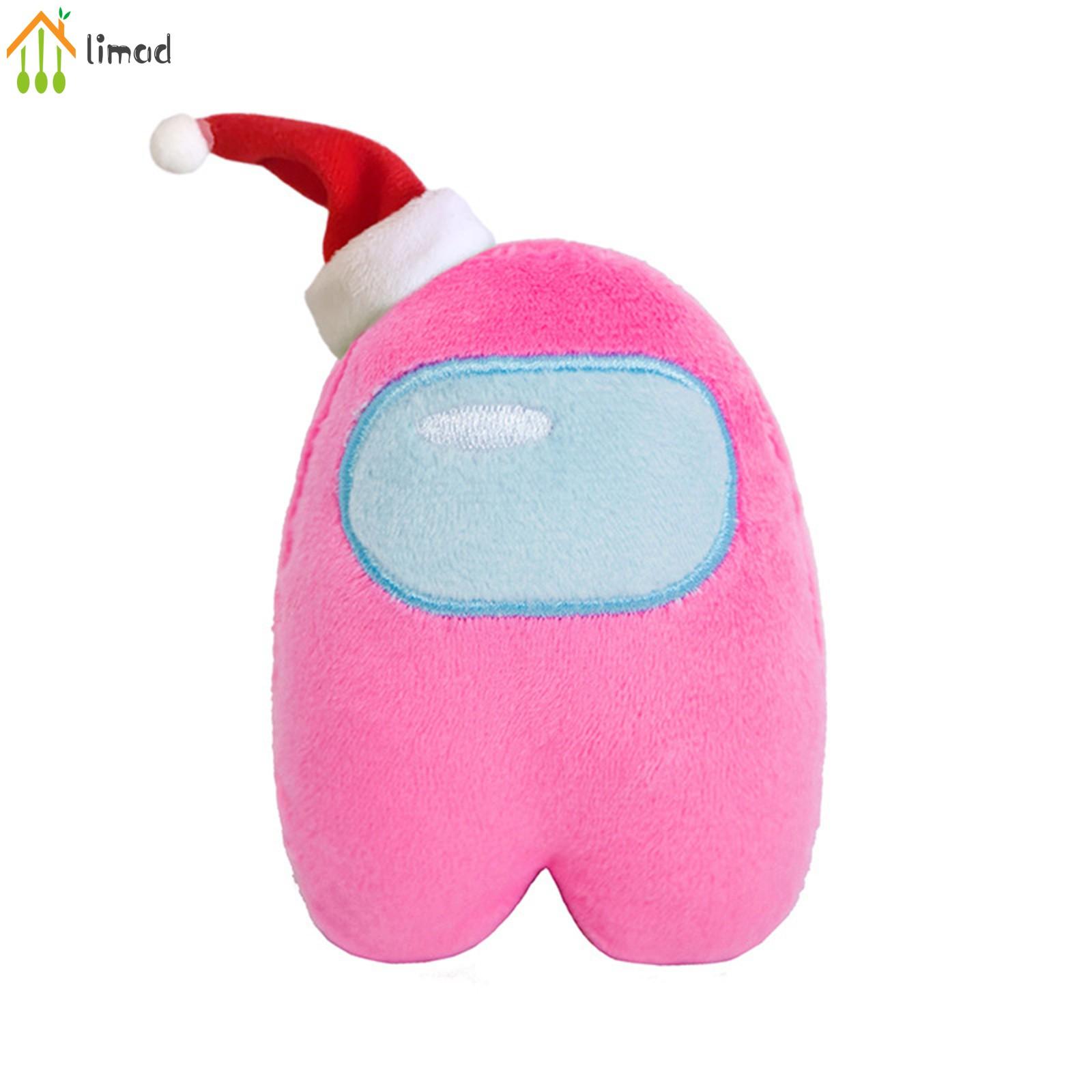 【COD】# limad Xmas Hat Figure Among Us Plush Crewmate Plushie Kawaii Stuffed Soft Game Plush Toy Lovely Stuffed Doll Christmas...