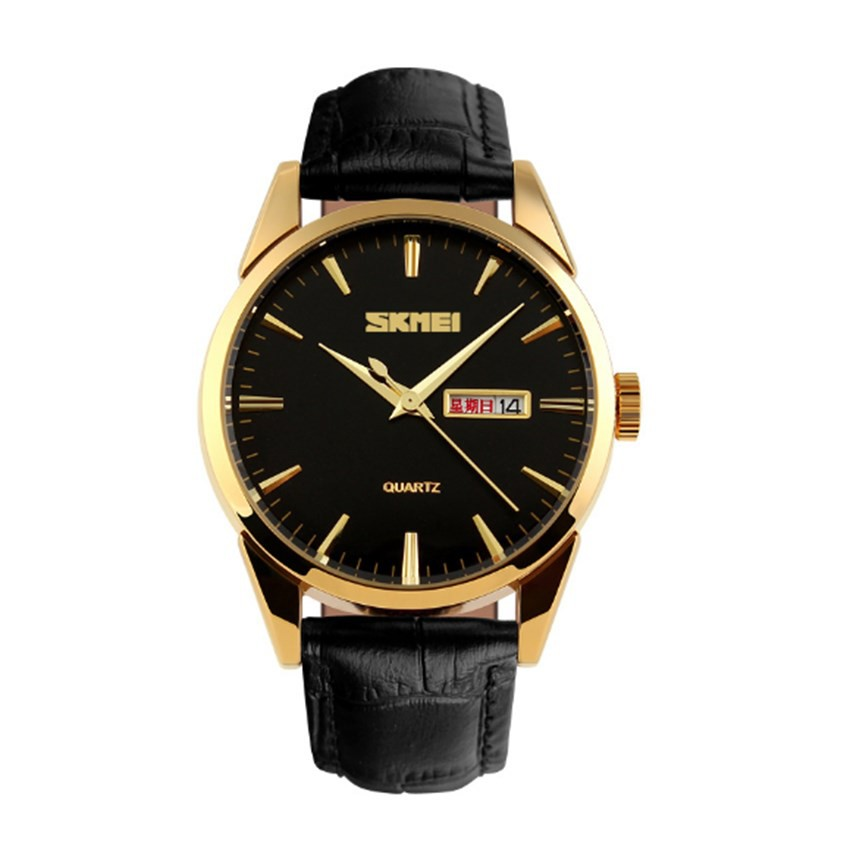 Đồng hồ nam Skmei 9073 dây da đen kim vàng - 2478235 , 101039716 , 322_101039716 , 400000 , Dong-ho-nam-Skmei-9073-day-da-den-kim-vang-322_101039716 , shopee.vn , Đồng hồ nam Skmei 9073 dây da đen kim vàng