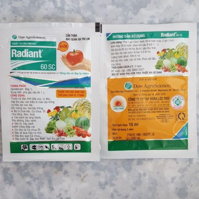 Bán trừ sâu sinh học Radiant đặc trị bọ trĩ, sâu tơ hàng nhập, phân phối trong nước bởi thietbinhavuon.