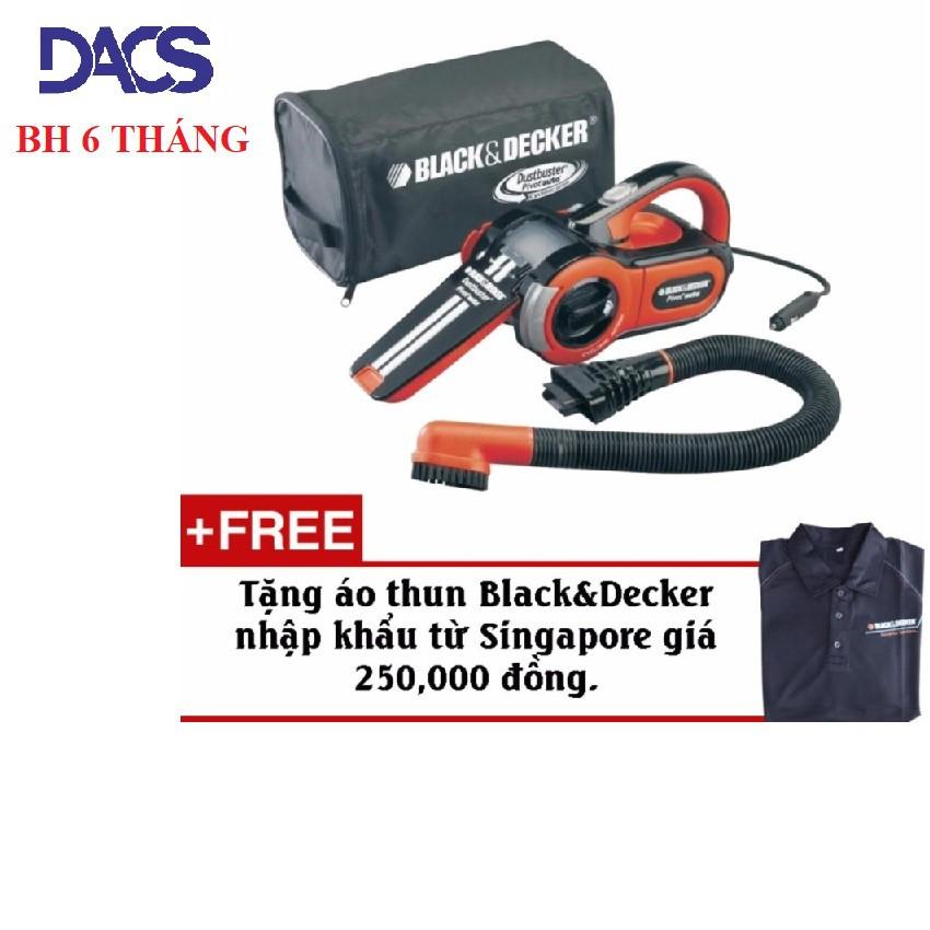 Máy hút bụi xe hơi BLACK và DECKER PAV1205 + Tặng kèm áo thun chính hãng Black&Decker