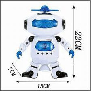 ĐỒ CHƠI ROBOT XOAY 360 ĐỘ CÓ ĐÈN[[SALE BEST]]( SHOPPHUKIEN.TMART )