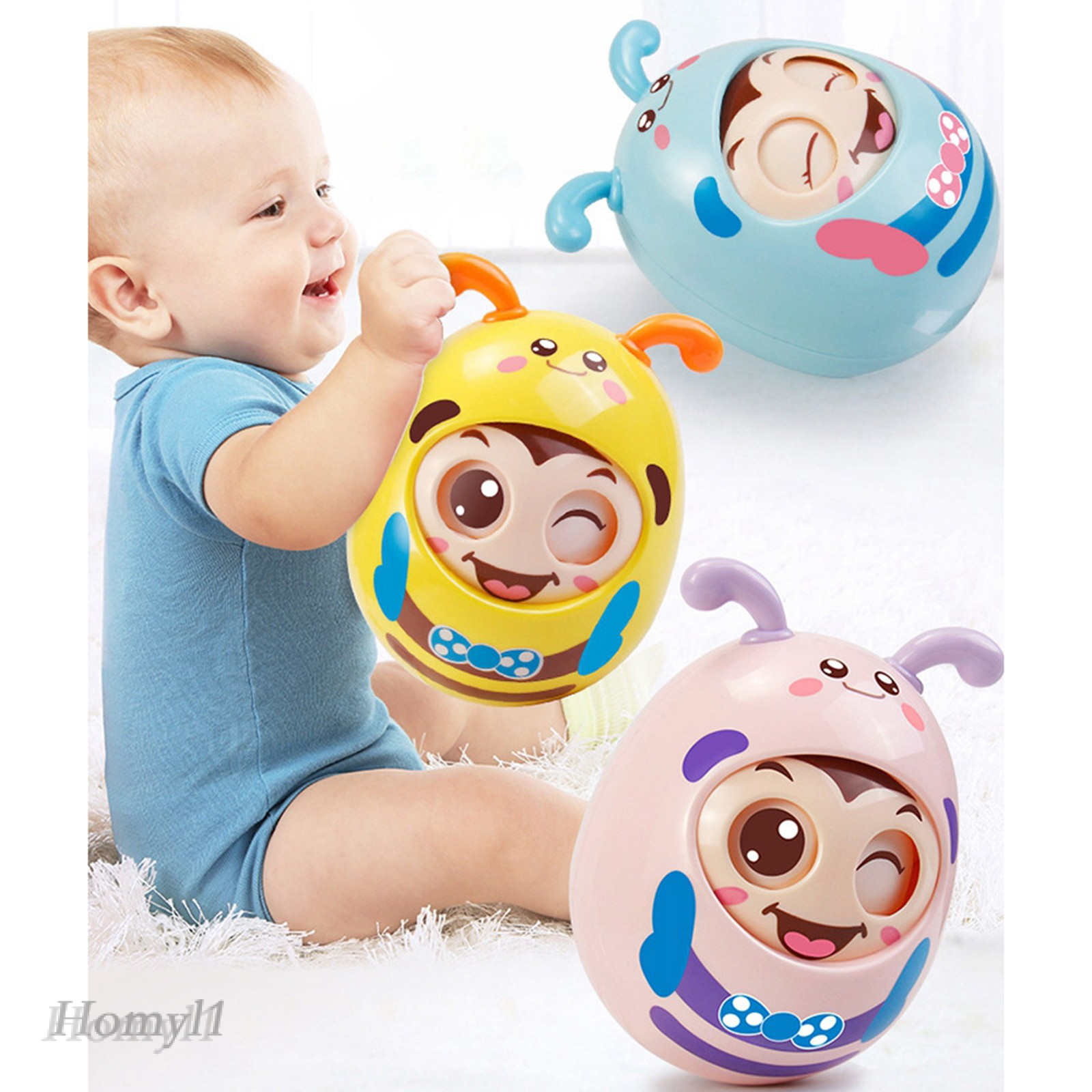 [HOMYL1] Safety Roly-Poly Tumbler Infant Baby Toys Best Gifts Tummy Time Toys