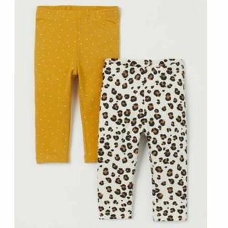 Sét 2 quần legging H&M chuẩn auth us săn sale cho bé gái