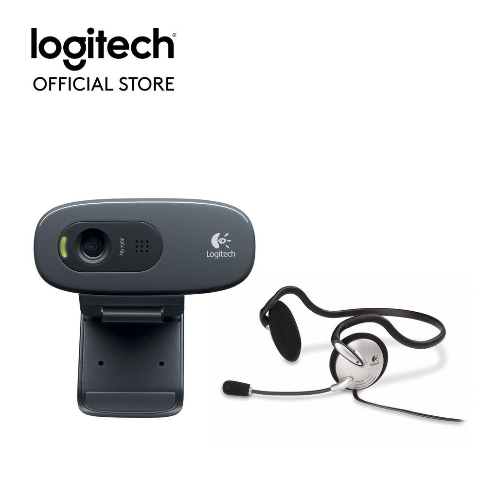 Webcam Logitech C270h (Kèm Tai Nghe) - Hãng phân phối chính thức