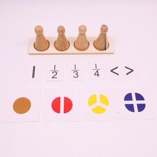 Giáo cụ Montessori – Thẻ chia phần phân số