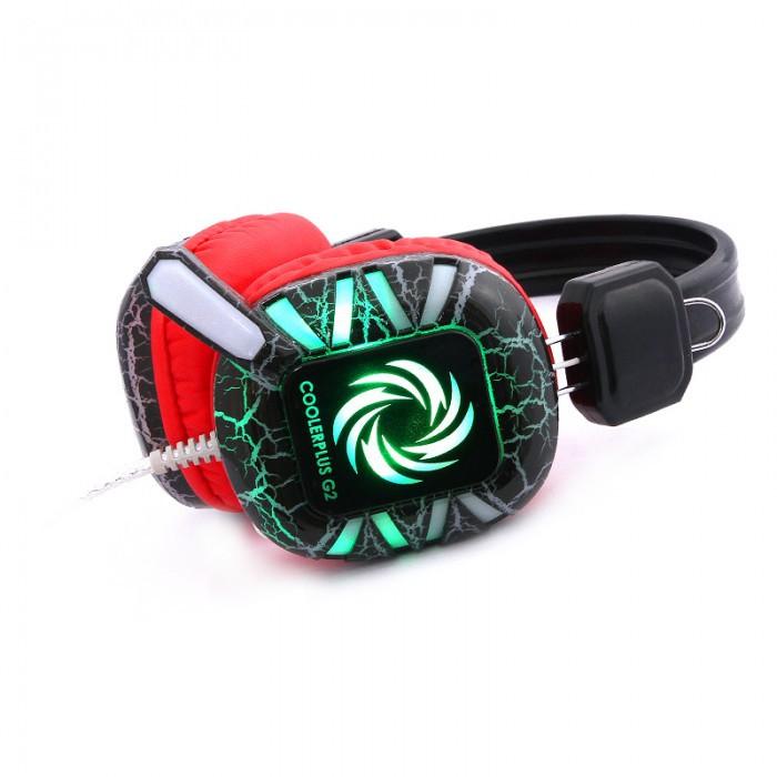 [Siêu Bass]Tai nghe fullsize Gaming Coolerplus G2 Có Đèn Led(tặng thẻ nạp 30K)
