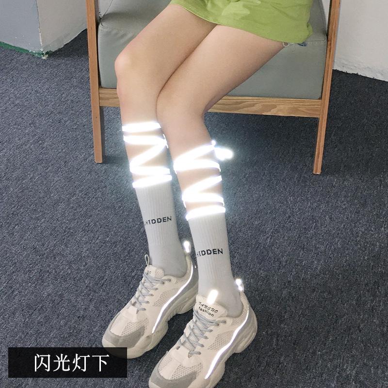 ถุงเท้าเด็กเกาหลีญี่ปุ่นสะท้อนข้ามบุคลิกภาพถุงน่องขนาดกลาง