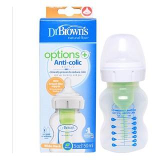 Bình sữa Dr Brown s Options 150ml (cổ rộng) thumbnail