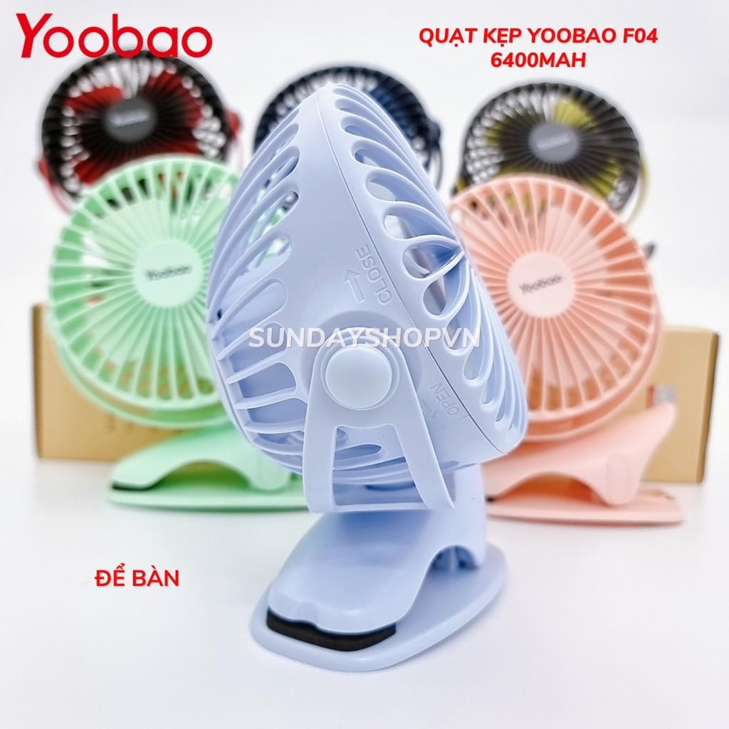 Quạt kẹp YOOBAO F04 6400mAh dùng 32h xoay 720 độ