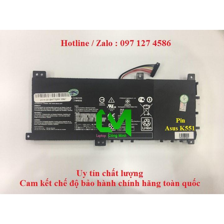 Pin Laptop Asus K551 K551L K551LA K551LB K551LN – BH 9 tháng Giá chỉ 980.000₫