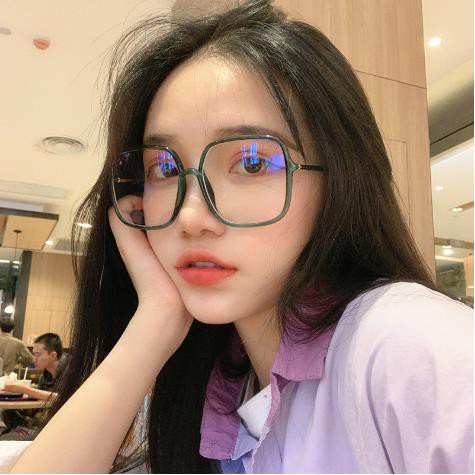 GD Big frame green glasses frame Zhou Yangqing anti-blue light glasses frame square flat mirror trend frame glasses