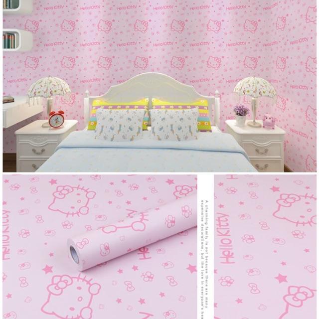 Compo 28 m decal dán tường helo kitty hồng phấn