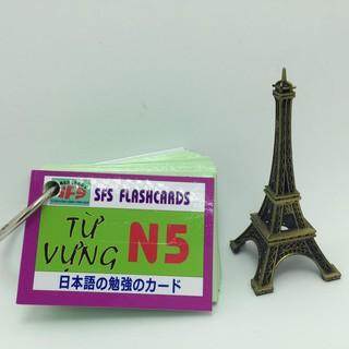 [ FREE SHIP ] [Sỉ_25k] Bộ thẻ tiếng nhật từ vựng N5_khobuon thumbnail