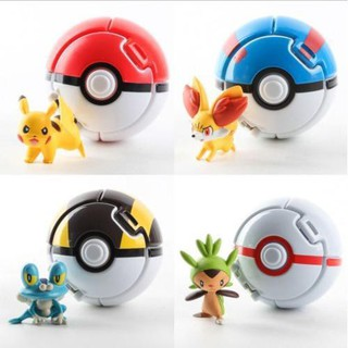 Set 4 quả bóng Pokemon đồ chơi cho bé sku sp EQ666