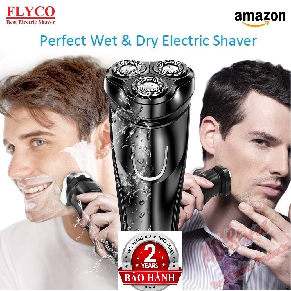 Máy cạo râu nam FLYCO siêu bền, lưỡi dao tự mài, chống nước, hàng chính hãng FLYCO FS366/FS367. POREE: PS197/PS198.