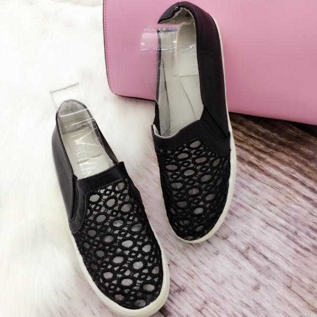 Giày thể thao slipon ren lưới cao 2 cm