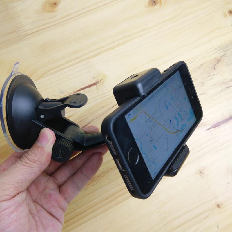 Cốc hút chân không treo camera hành trình và smartphone