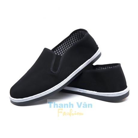Giày lười cặp đôi nam nữ (đen), size từ 35-45