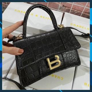 Túi Xách Nữ đeo chéo Kẹp nách  hàn quốc khóa chữ B Mã T006 cao cấp giá rẻ công sở cầm tay