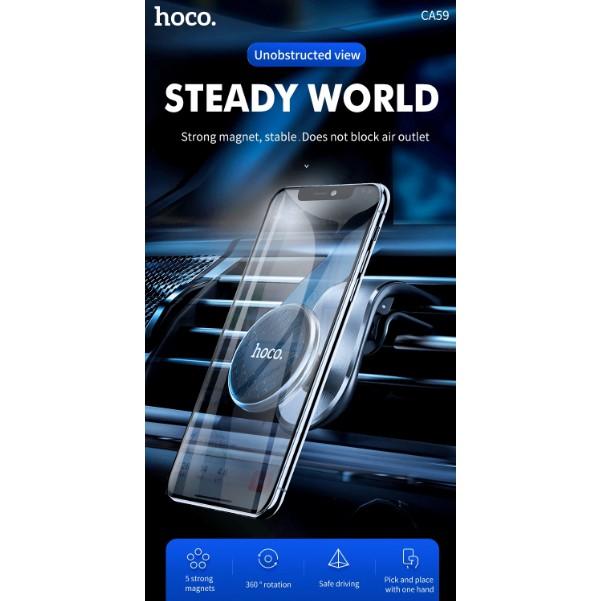 Giá đỡ điện thoại HOCO CA59 kẹp cửa gió ô tô Dành cho điện thoại iPhone 12 iP Samsung Oppo đẹp hút nam châm trên xe hơi