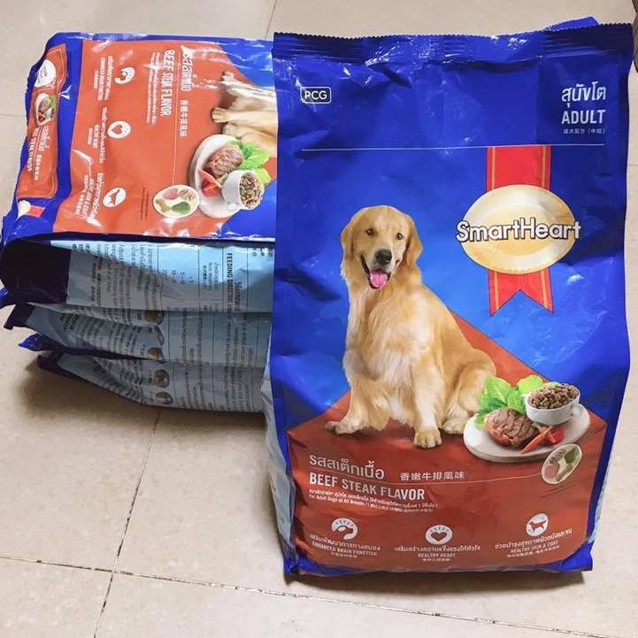1.5kg] Hạt Smartheart cho chó trường thành vị Bò Beef Steak   Shopee Việt Nam