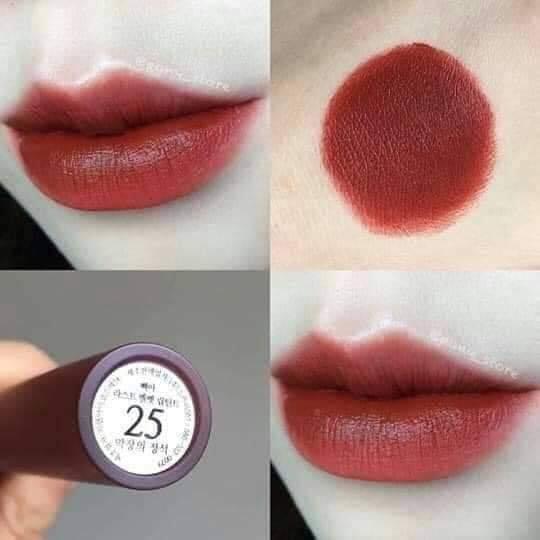 Son kem lì BBIA Last Velvet Lip Tint màu 25 - Version 5 - Hàn Quốc