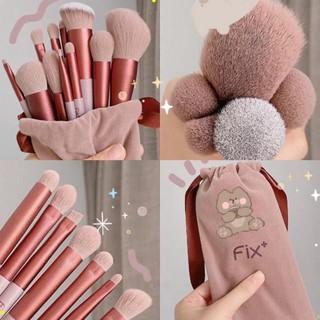 [ bộ 13 cây ] Cọ trang điểm Fix Hồng 13 Cây,bộ Cọ makeup Trang Điểm cá nhân kèm túi đựng MGA 5