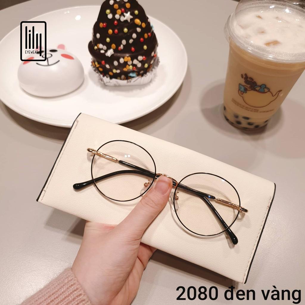 Gọng kính cận kim loại tròn Nobita 2028 - Gọng kính mắt lily