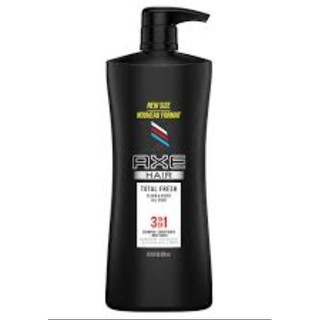 Dầu gội, tắm & xả nam 3 trong 1 AXE Total Fresh 3 in 1 Shampoo, Conditioner and Body Wash 828ml (Mỹ)