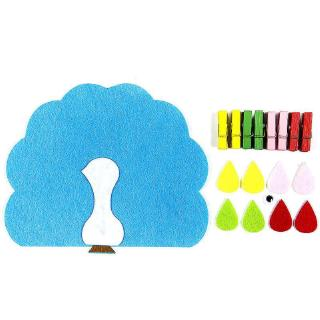 DIY Weave Cloth And Wood Clip Toy Kids Toy Learning Education Toys Kindergarten Math Teaching Toy