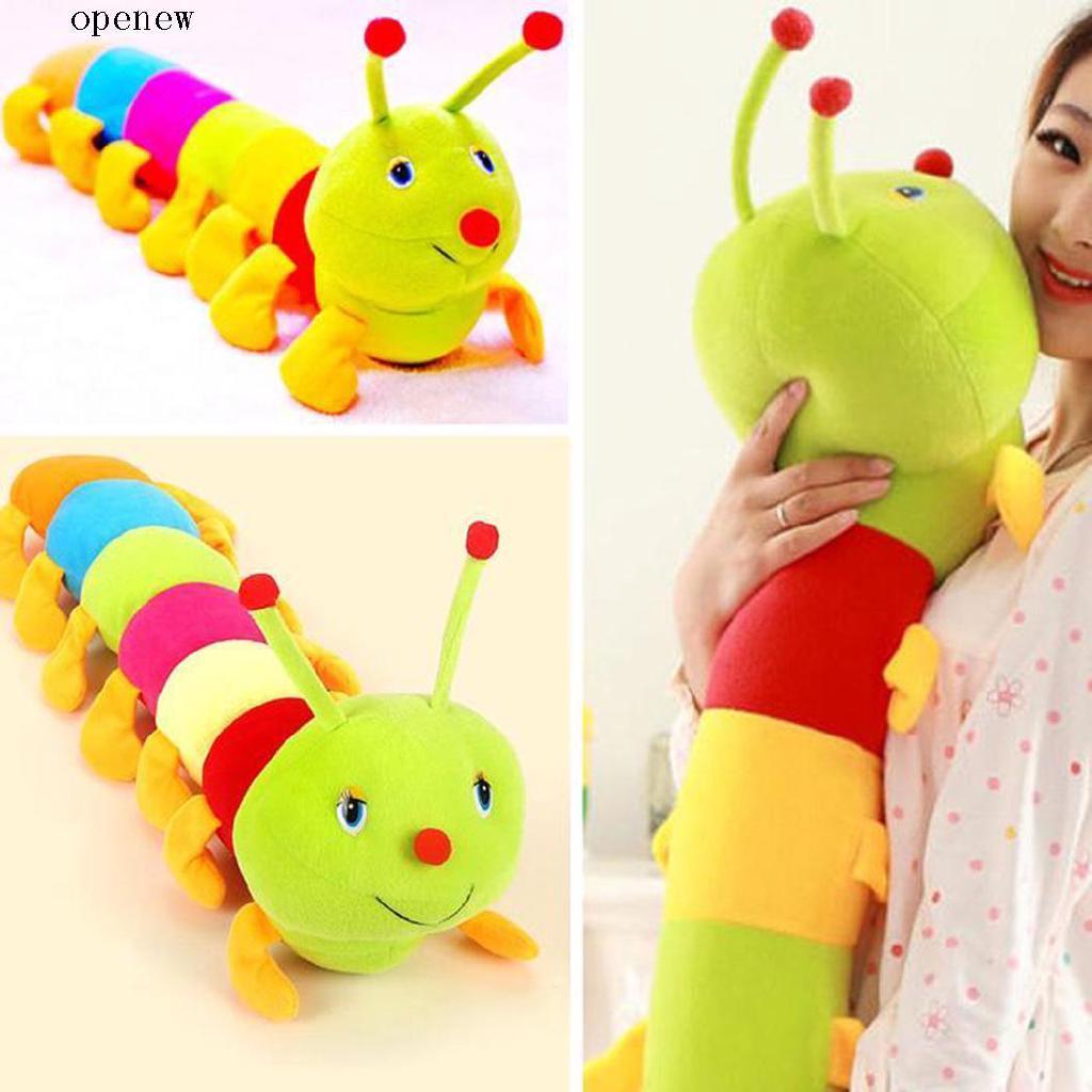 op Baby Cute Colorful Inchworm Soft Plush Toys Children Developmental Doll