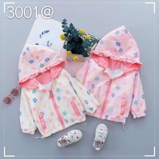 Áo khoác dù hoa nhí cho bé gái