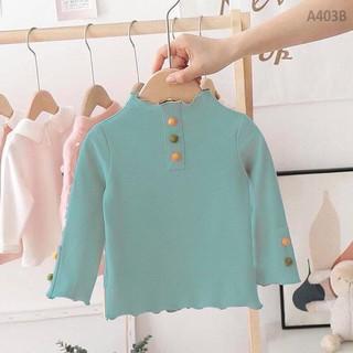 Áo zip giữ nhiệt đính cúc ngọc mềm mịn thoáng mát cho bé - Áo thun cotton cho bé, Áo cho bé gái