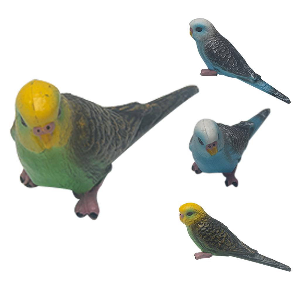 Kids Toy Mini Simulation Parrot Bird Model Figurine Decor Miniature Fairy Garden Decoration Baby Play Sets