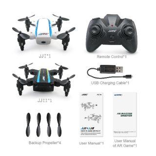 Bộ 2 máy bay điều khiển từ xa Flycam mini gấp gọn