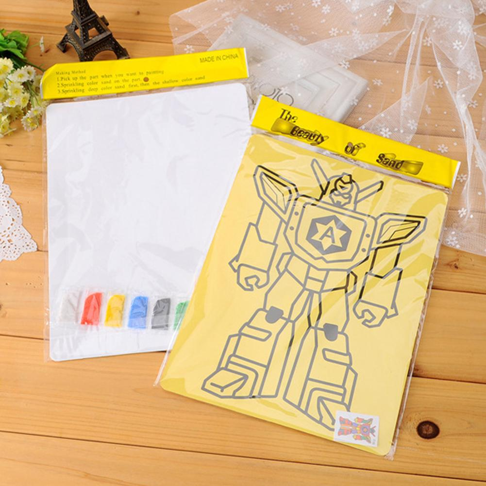 Funny Learning Toy Plastic Drawing Sands Kids DIY 9 Color Painting Child Educational Gift Random
