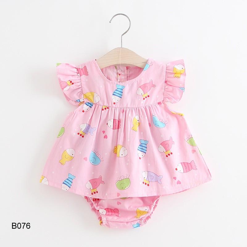 Set đồ bộ bé gái 9-15kg hàng Quảng Châu B076
