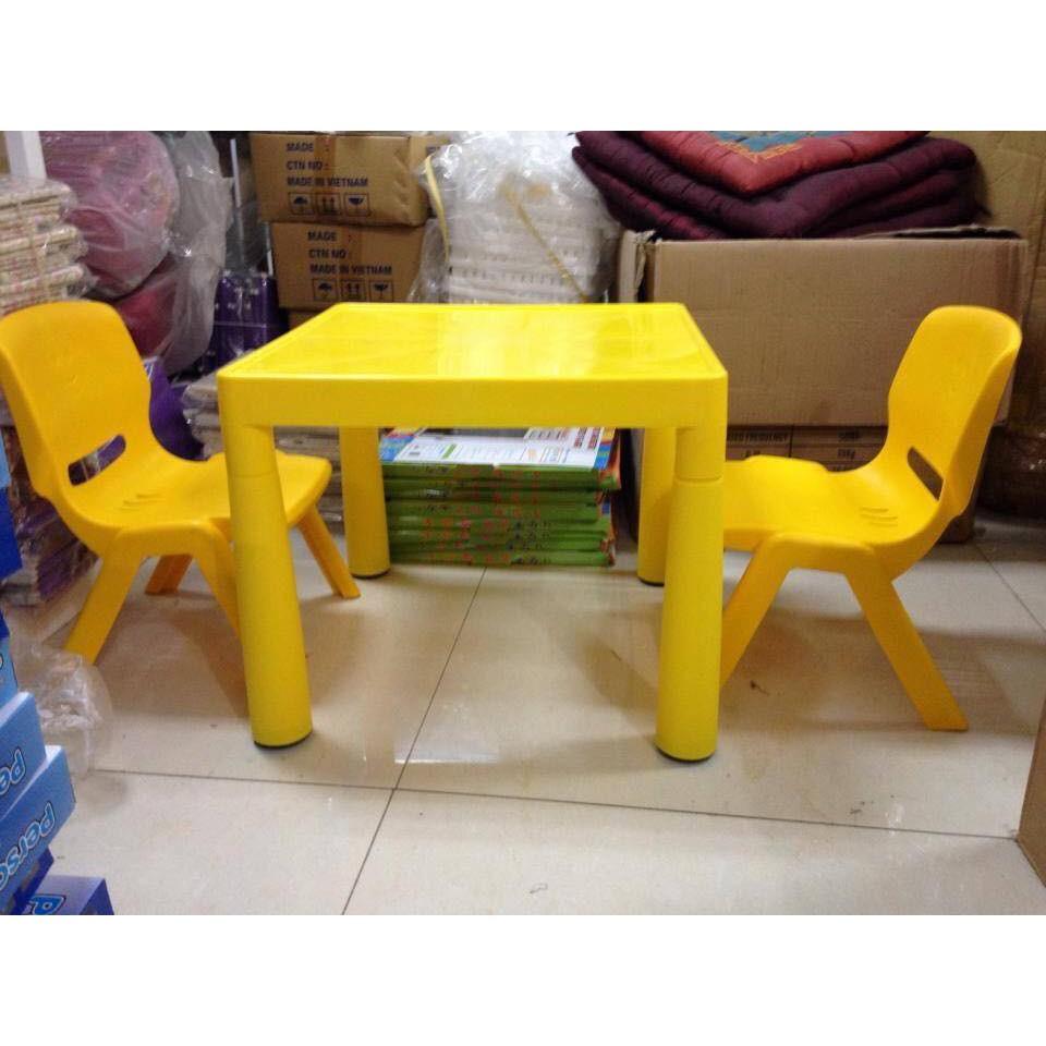 Bộ bàn ghế trẻ em nhựa đúc Song Long thần thánh { Bộ gồm 1 bàn và 1 ghế )