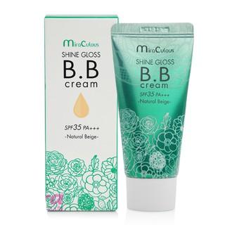 [Kem bb Hàn Quốc] Kem BB trắng da kiểm soát dầu MiraCulous Shine Gloss Hàn Quốc 30ml - Hàng chính hãng