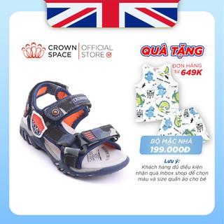Dép Quai Hậu Bé Trai Đi Học Chính Hãng Crown Space UK Sandals Trẻ em Nam Cao Cấp CRUK533 Nhẹ Êm Size 26-35/2-14 Tuổi