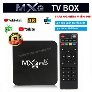 [Ứng dụng xem TV 200 kênh] Android TV box MXQ PRO 4K 5G Android 10.1 Đã cài sãn kênh YouTube, Chorme...vv thumbnail