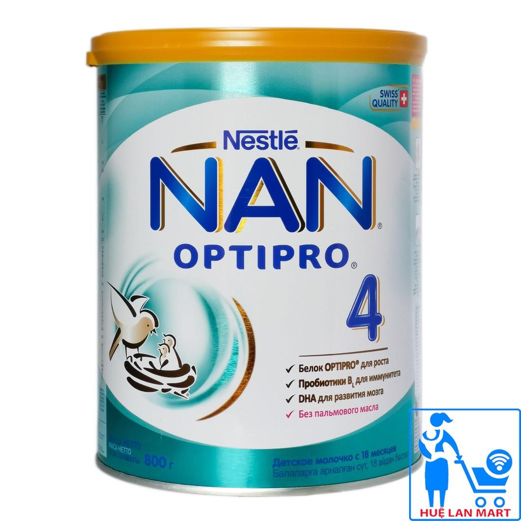 Sữa Bột Premium Nestlé NAN Nga Optipro Số 4 - Hộp 800g