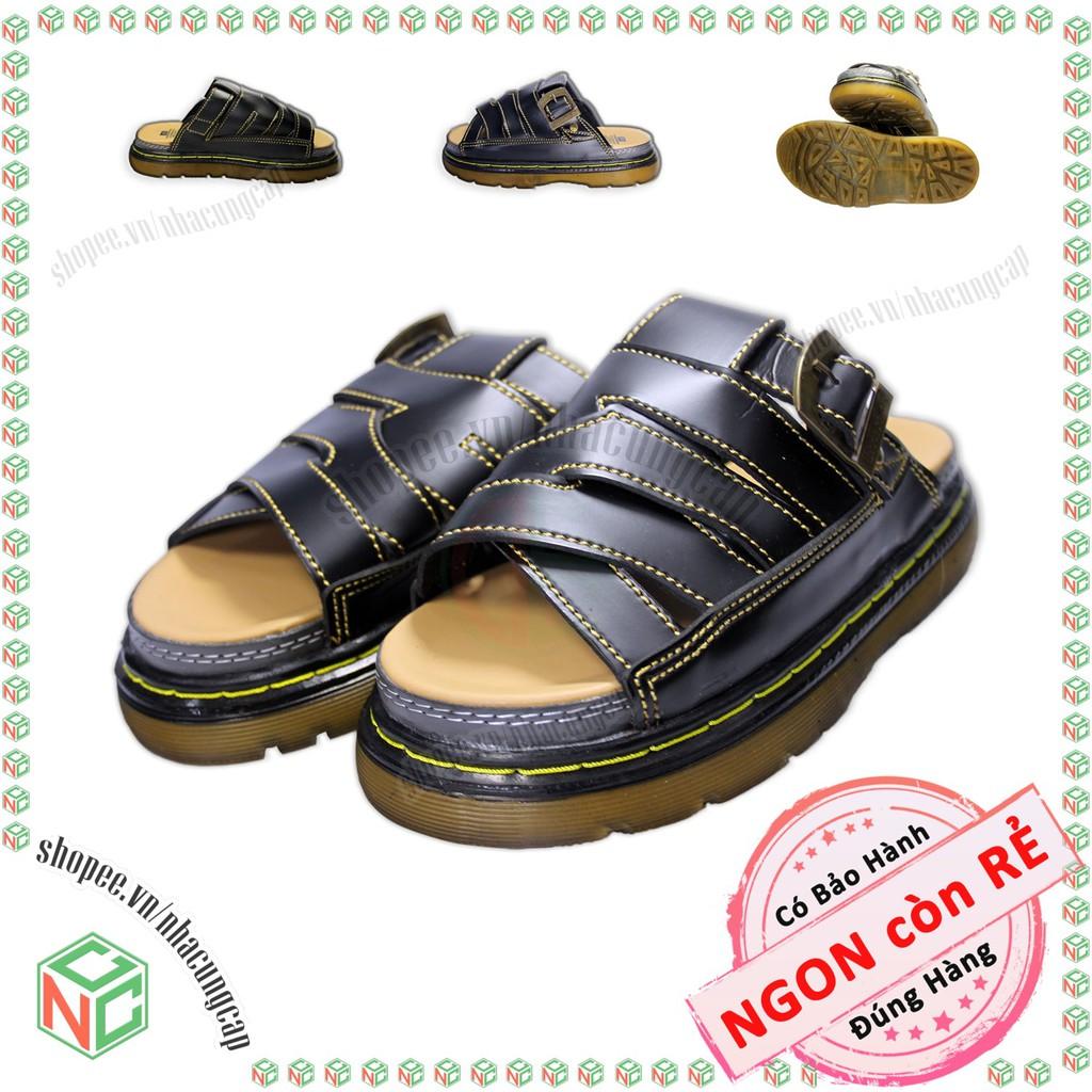 Giày dép nam Doctor Dr giá rẻ – Quai ngang kiểu dáng mới của năm – NMH-DR-5Q1X-De (Đen)